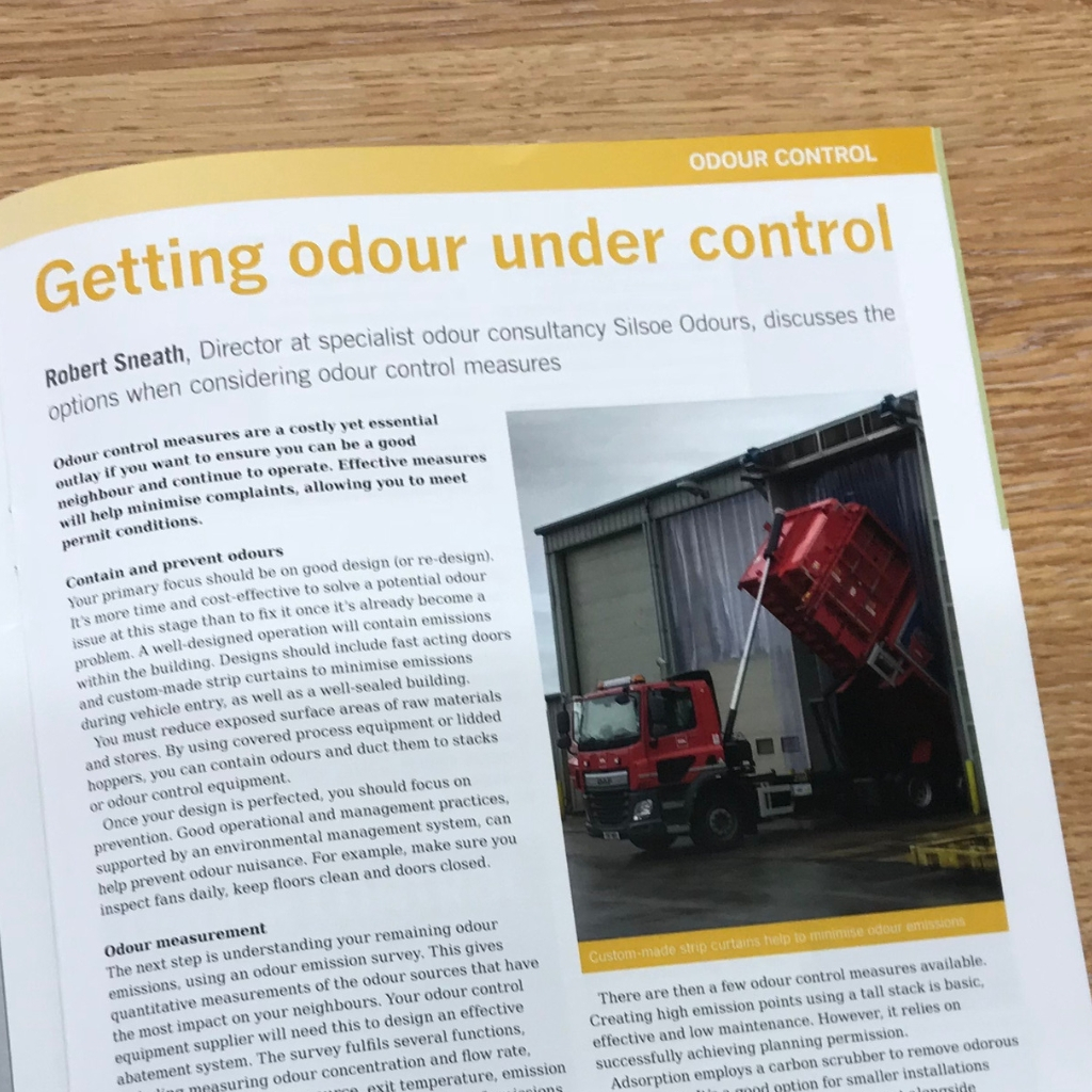 Robert Sneath discusses the options involved when considering odour control measures - Organics Recycling Magazine