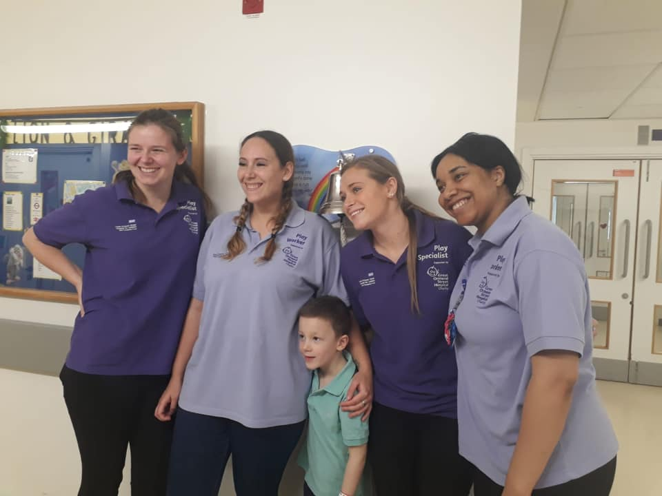 #SuperheroesForMax - Max and the play workers at GOSH
