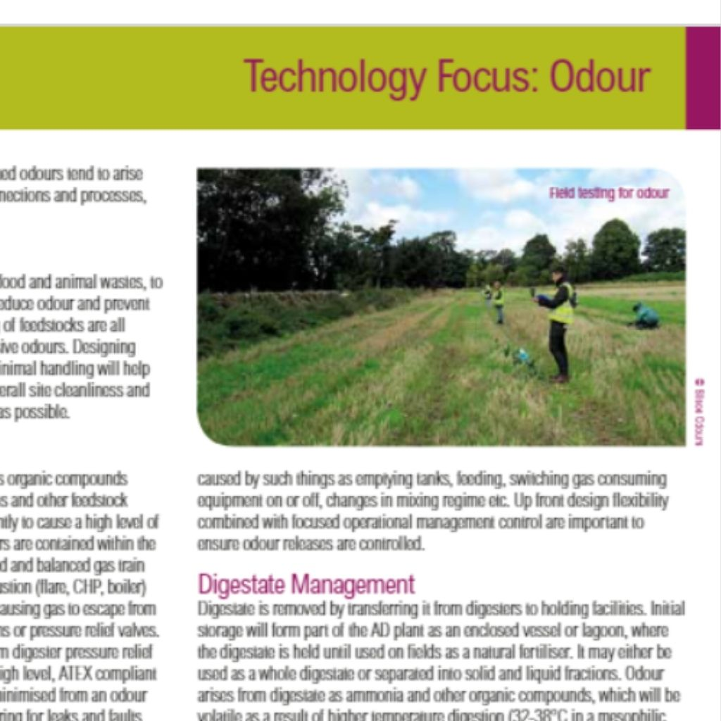 Robert Sneath helps highlight the importance of an odour management plan for AD, in the Spring 2019 issue of AD&Bioresources News.