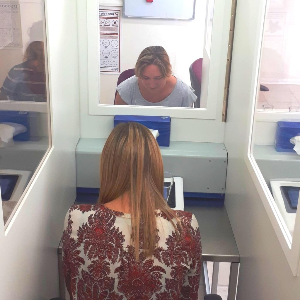 The odour testing team in action at the Silsoe Odours UKAS accredited laboratory
