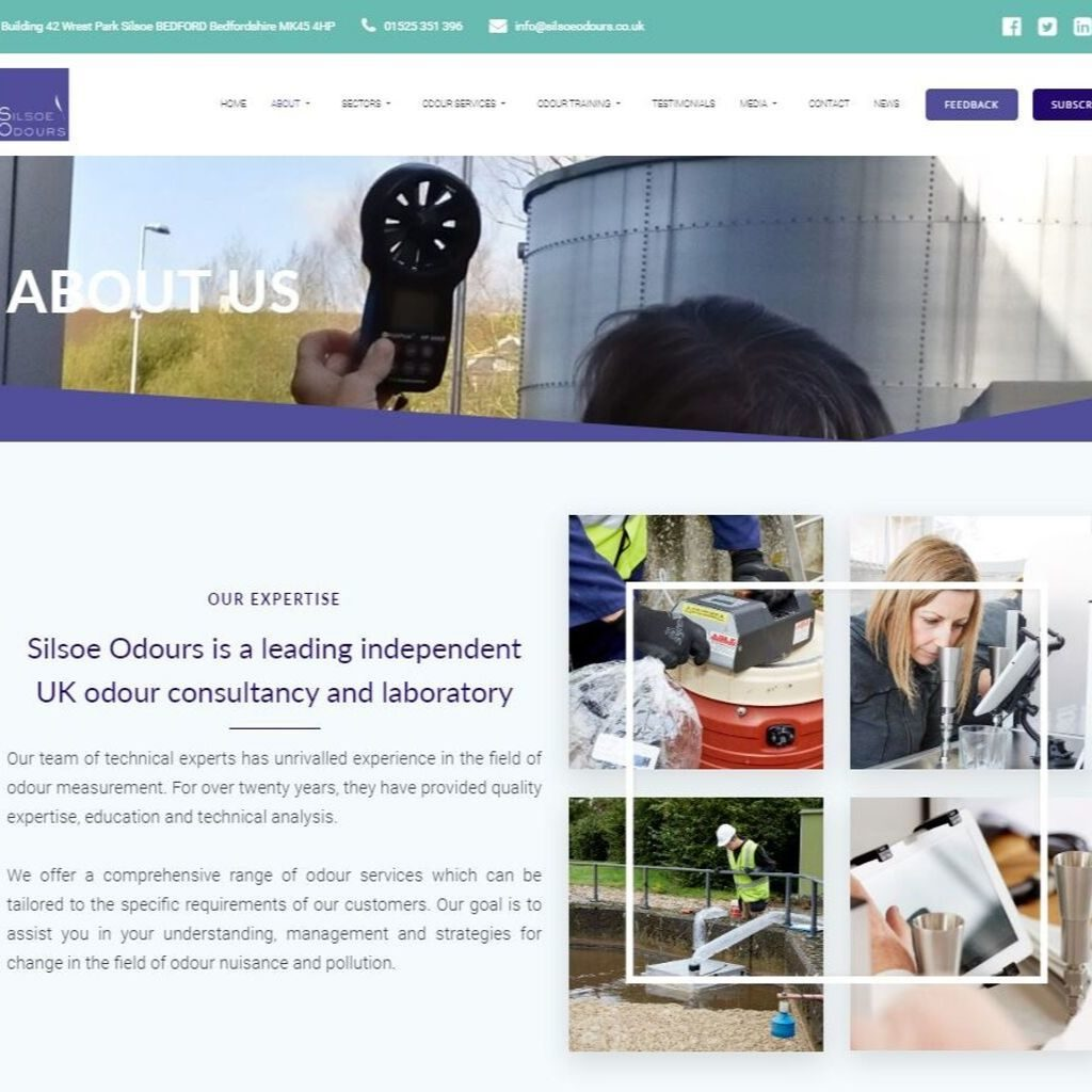New website launch from experts in odour guidance, Silsoe Oours