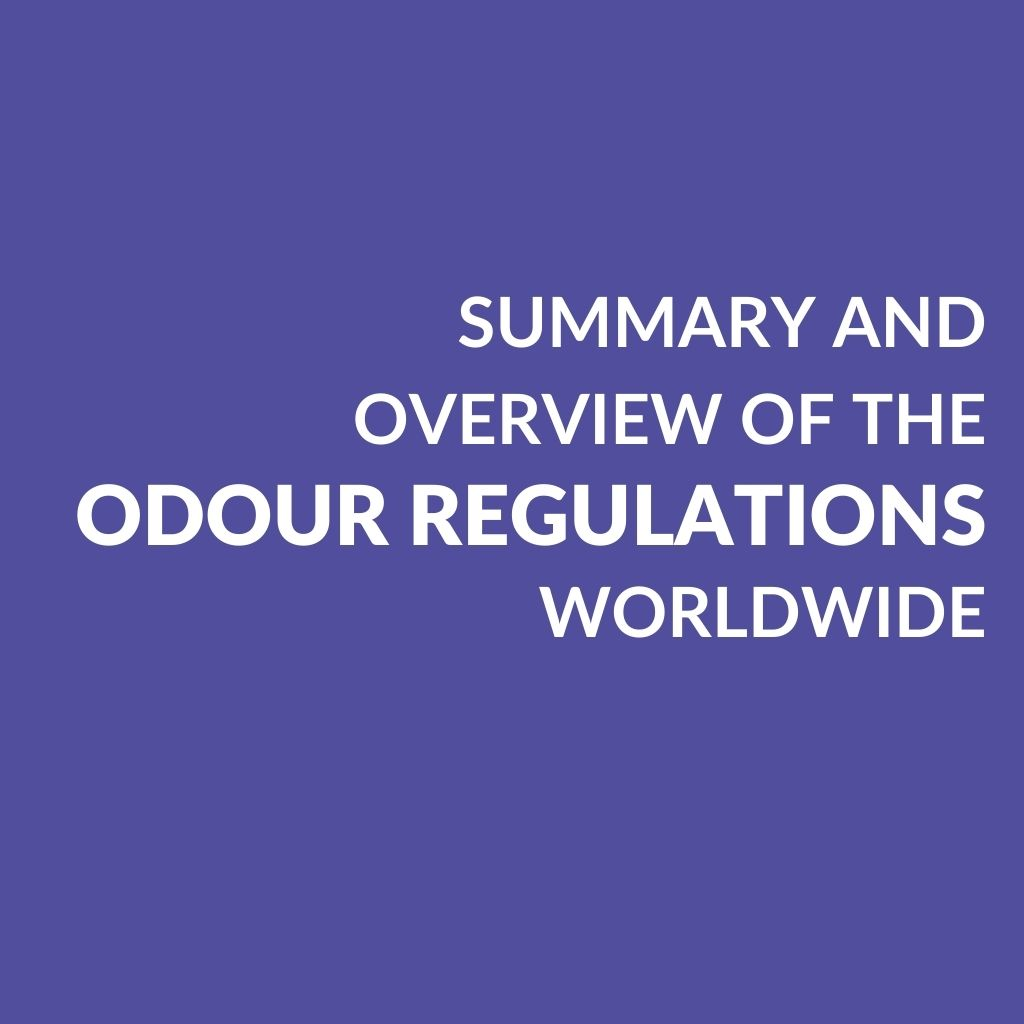 Summary and overview of the odour regulations worldwide