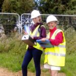 Sisse working alongside Sharon at a sniff survey for a planning application