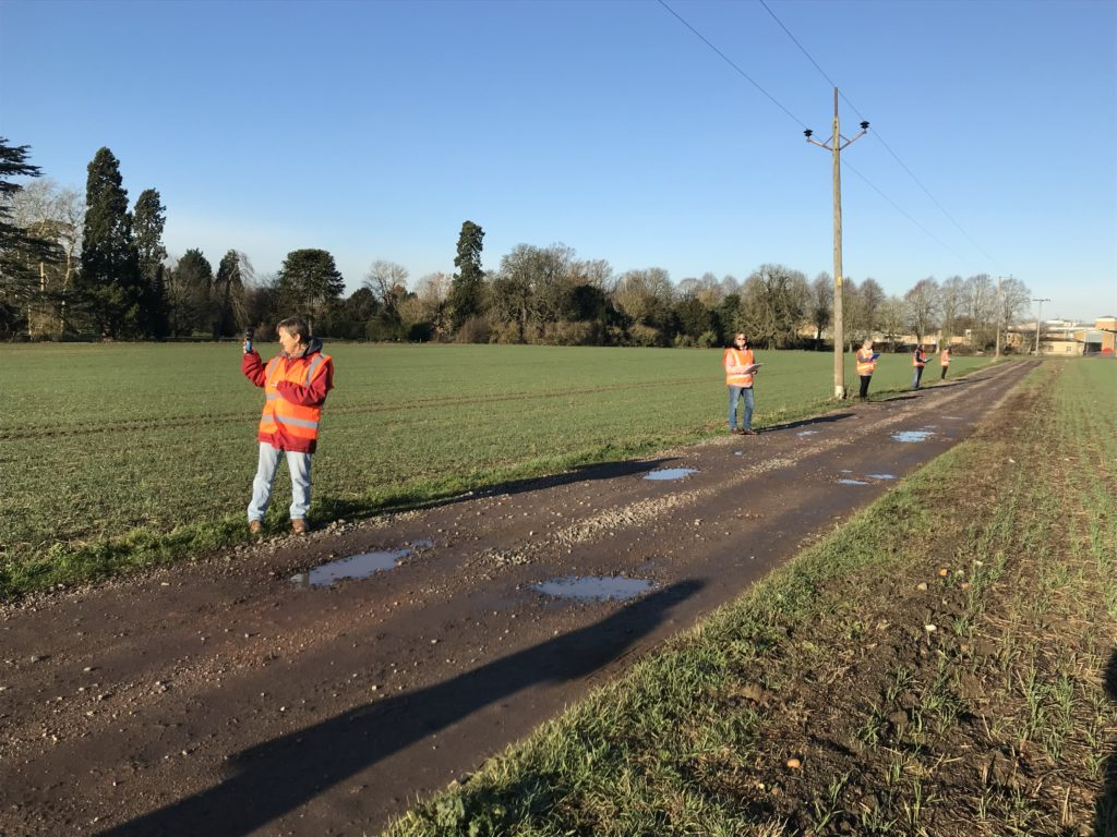 An Odour Panel conducting a Field Odour Impact Survey