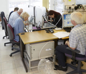 The odour panel conducting an Odour Test at the Silsoe Odours UKAS-accredited laboratory