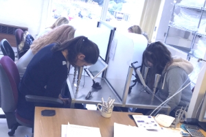 Delegates testing their noses in the Silsoe Odours lab as part of their odour guidance training